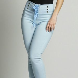 LAST PAIR Tie up high waisted trousers